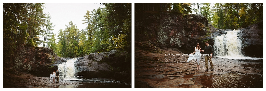 amnicon falls engagement session by mad chicken studio | duluth wedding and engagement photographer