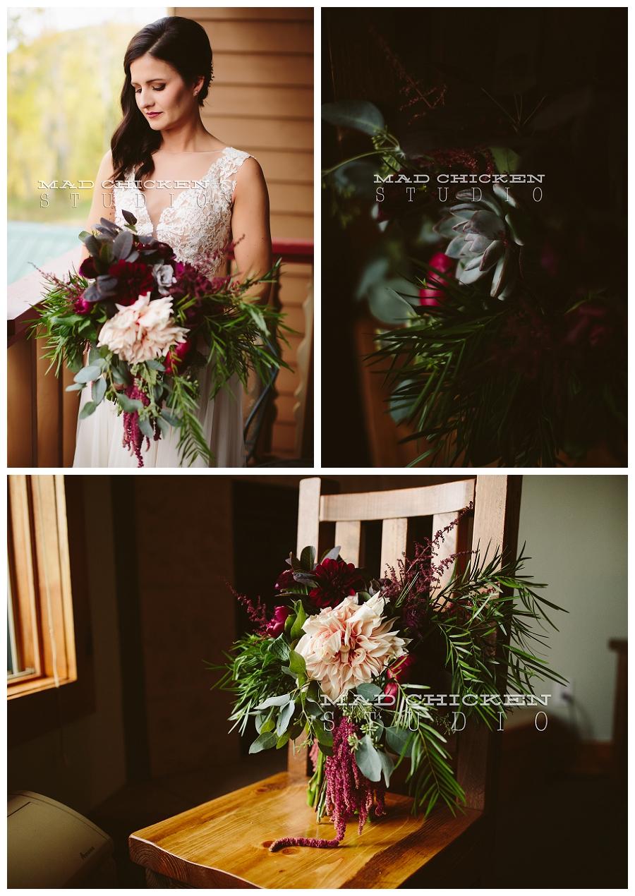 Duluth Wedding Photographer | Lutsen, MN | Mad Chicken Studio Photography | Summit Chalet | Watters Wedding Gown | Saffron and Grey | How Sweet It Is Cakes | 2 Dye 4 Salon