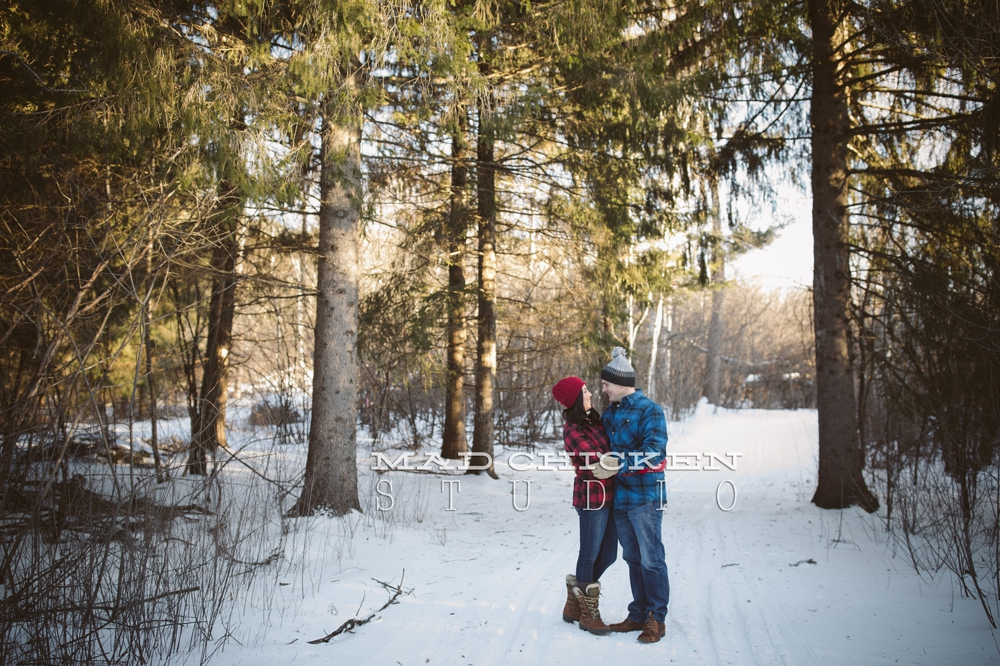 Duluth engagement and wedding photographer Mad Chicken Studio | Hartley Nature Center photography session with Jes Hayes