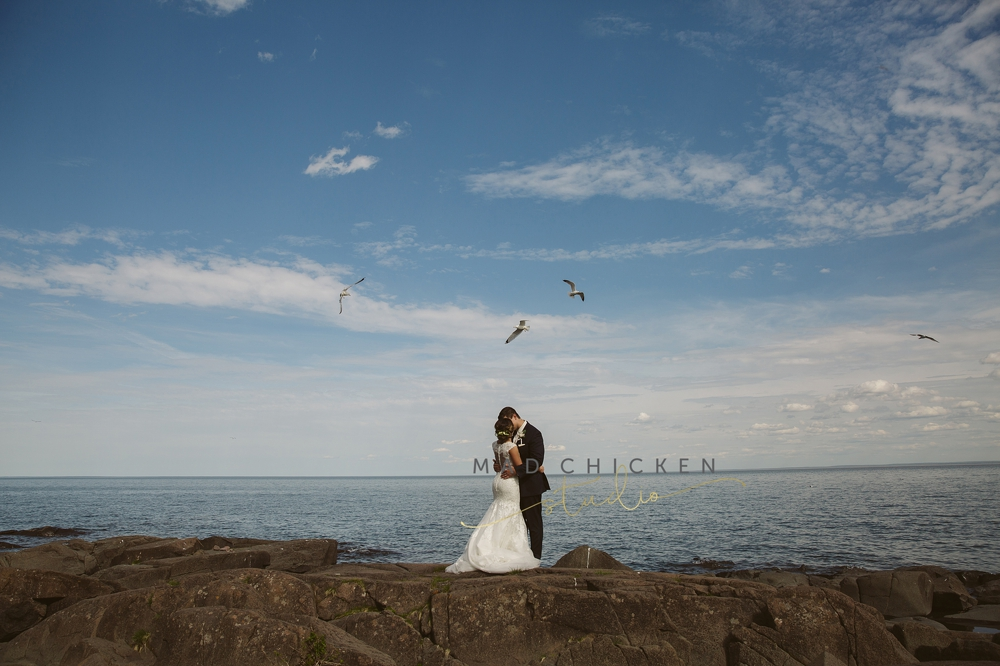 Superior Cathedral wedding photographer | Mad Chicken Studio | Brighton Beach and Lake Superior photos