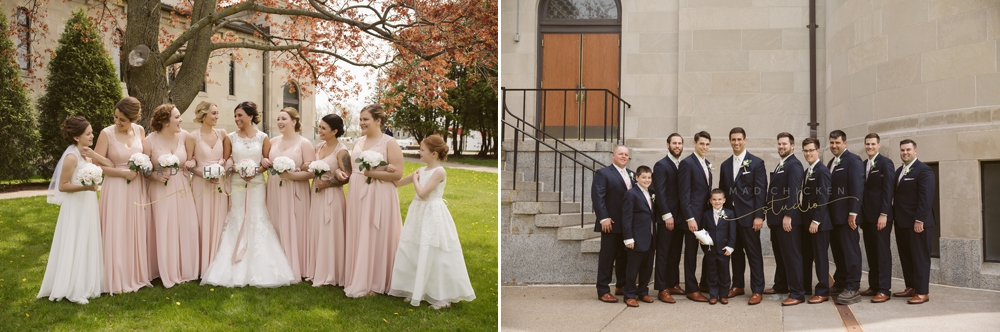 Superior Cathedral wedding photographer | Mad Chicken Studio | wedding party