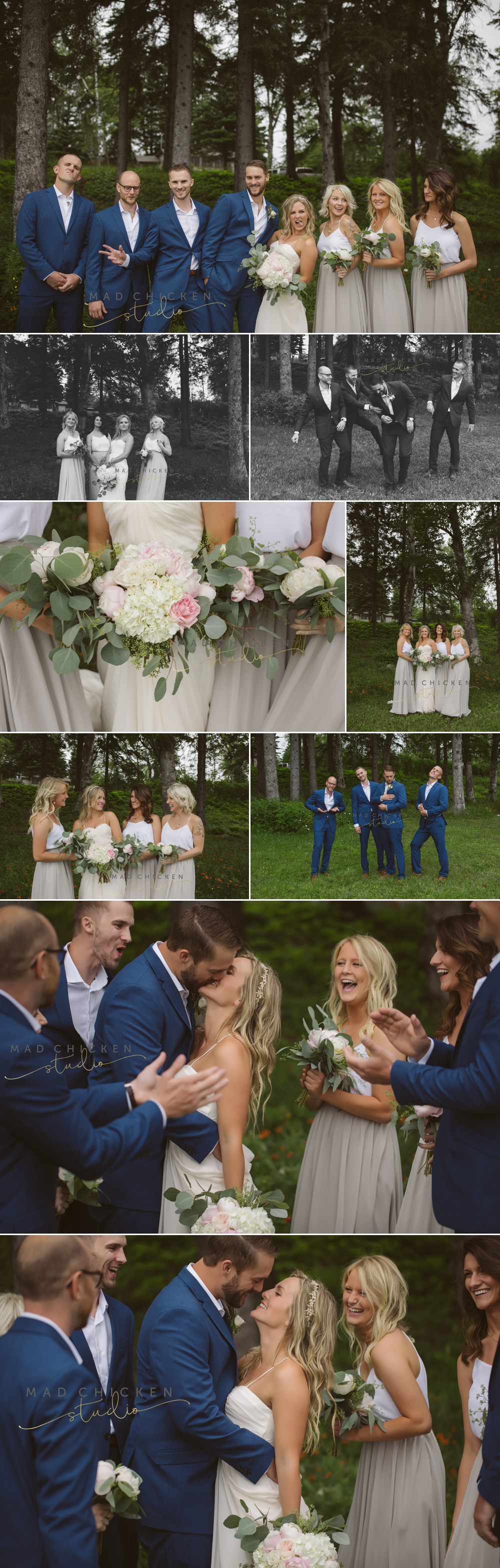 wedding party at Tofte Park