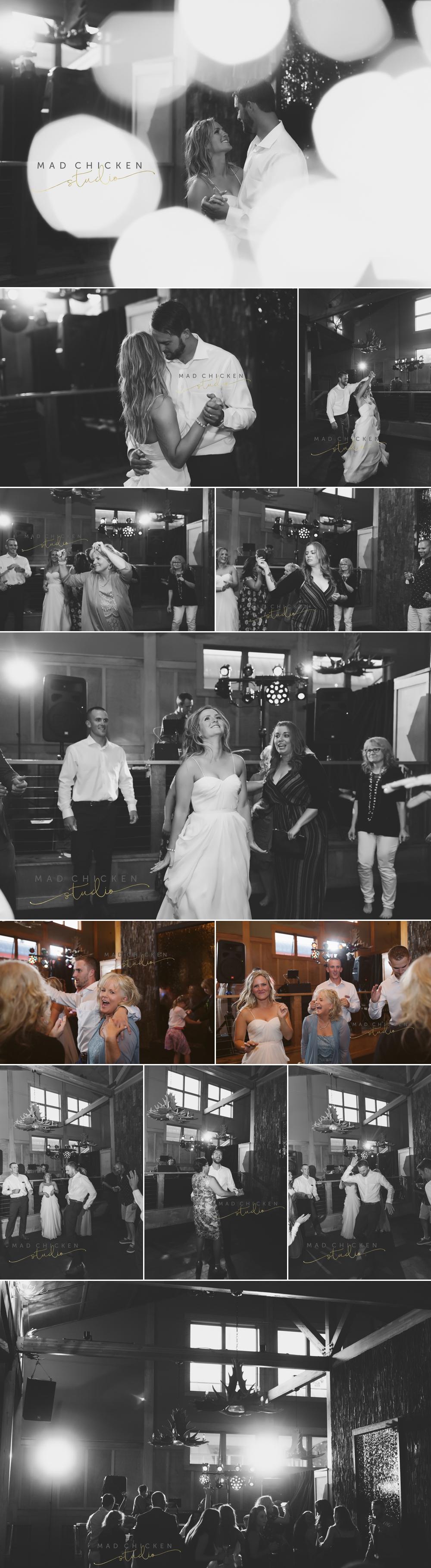 wedding dance at summit chalet