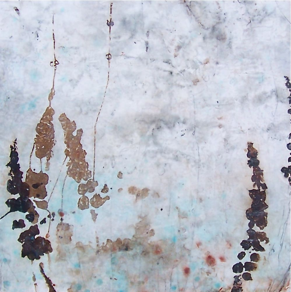 gaia series III-  sold  mixed media on panel  30 x 30 x 2