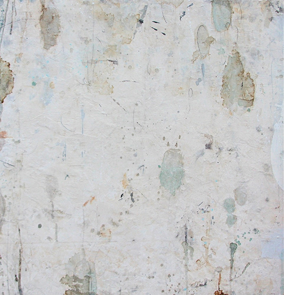 green seeds  mixed media / paper / panel  48 x 46 x 2  sold