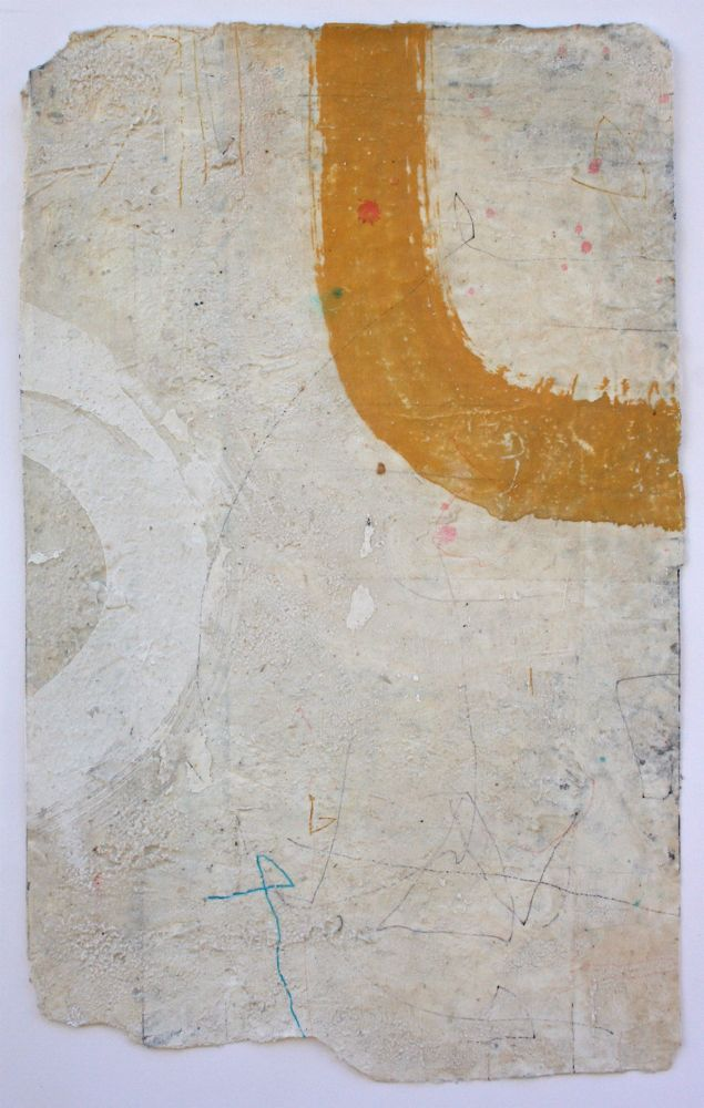 dogleg  mixed media / paper  24 x 15