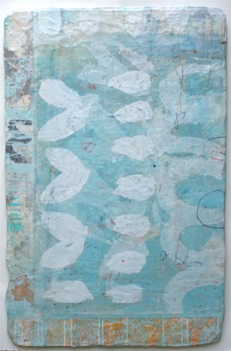 the planting    mixed media / paper / wood  36 x 24  sold