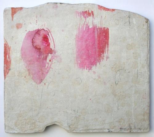 pink seeds  mixed media / paper /wood  16 x 20 x 1