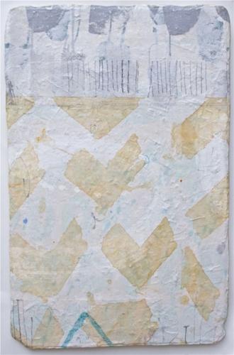 fluttering soul    mixed media / paper / wood  36 x 24  sold
