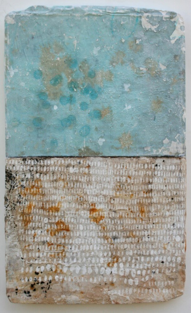 rice & water    mixed media / paper / wood  20 x 12 x 1  sold
