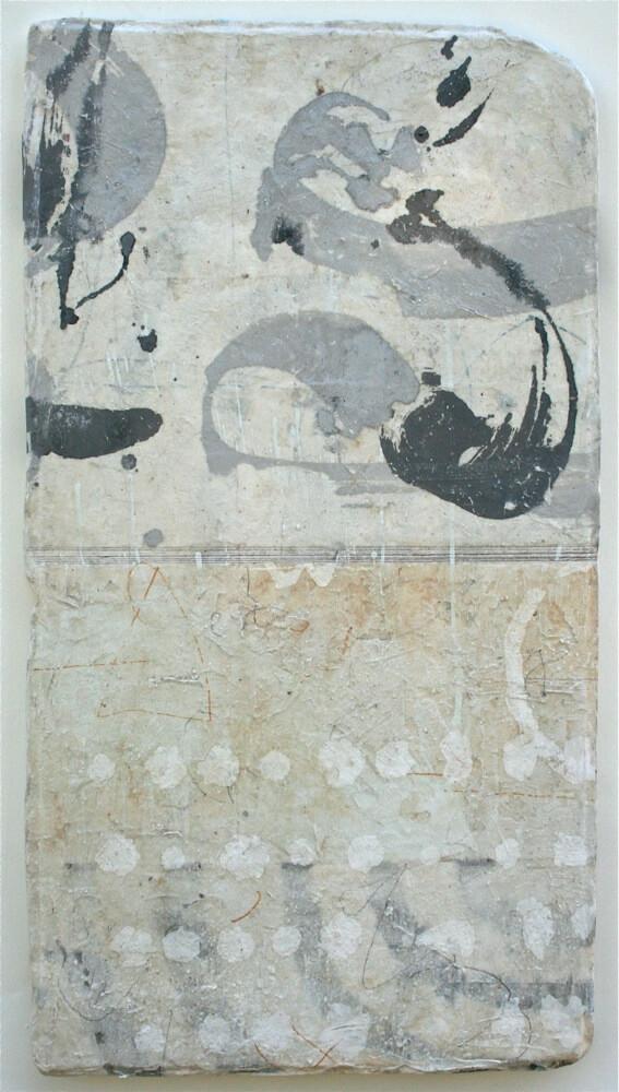 stars & wind  mixed media / paper / wood  24 x 15 x 1  sold  .  .  .