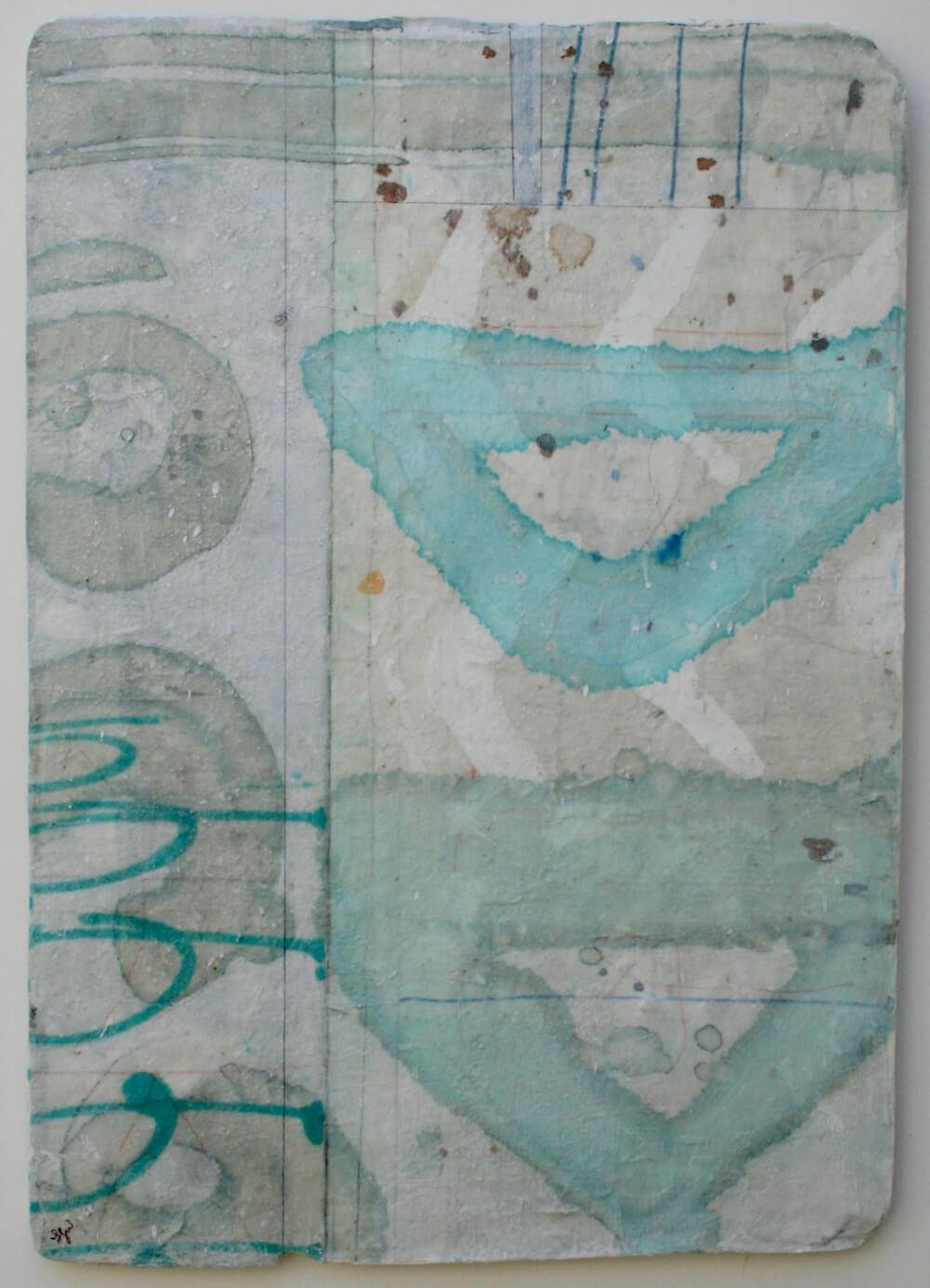 vessels  mixed media / paper / wood  22 x 15