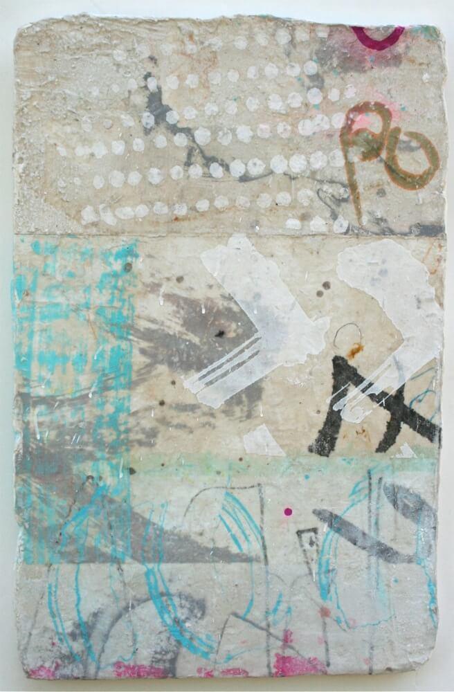 graffito  mixed media / paper / wood  23 x 15  sold