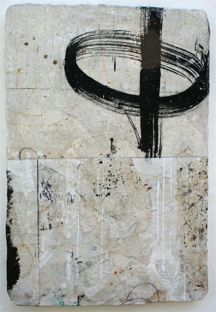 ending & beginning  mixed media / paper / wood  30 x 20 x 1  sold