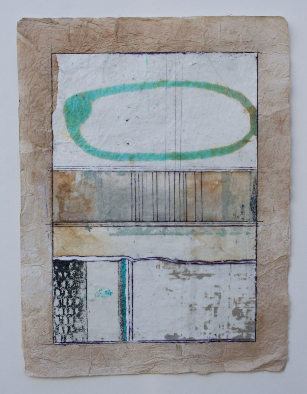 keys series   'ellipse'  mixed media on paper  12 x 9  sold  .  .