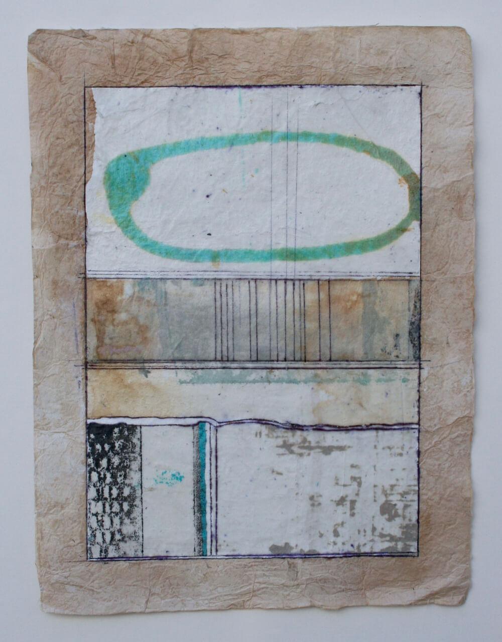 keys series  'ellipse'  mixed media on paper  12 x 9  sold  .  .