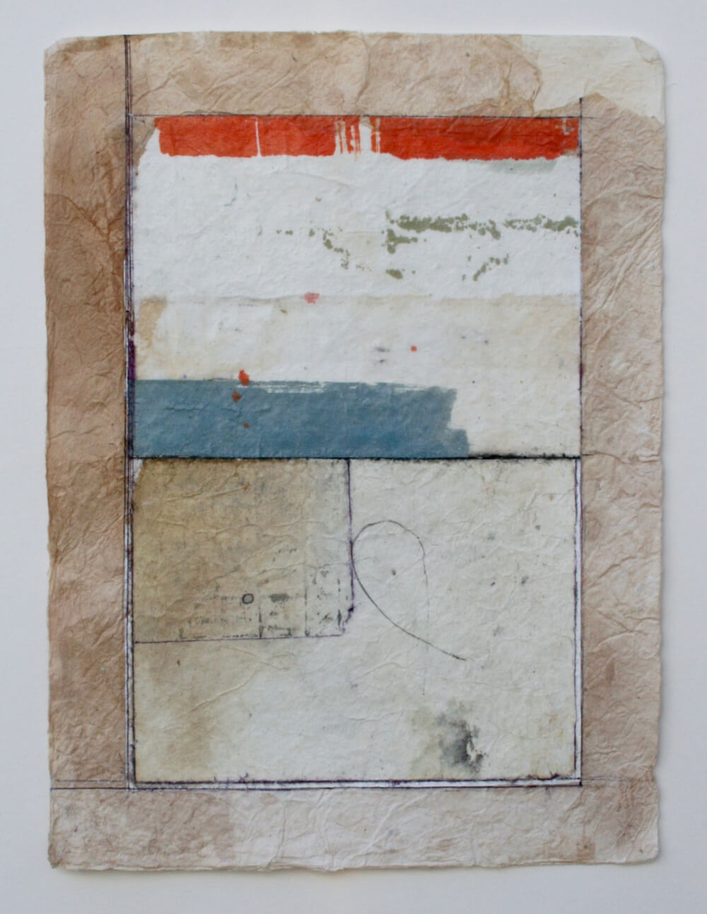 keys series   'cantilever'  mixed media on paper  12 x 9  sold  .  .