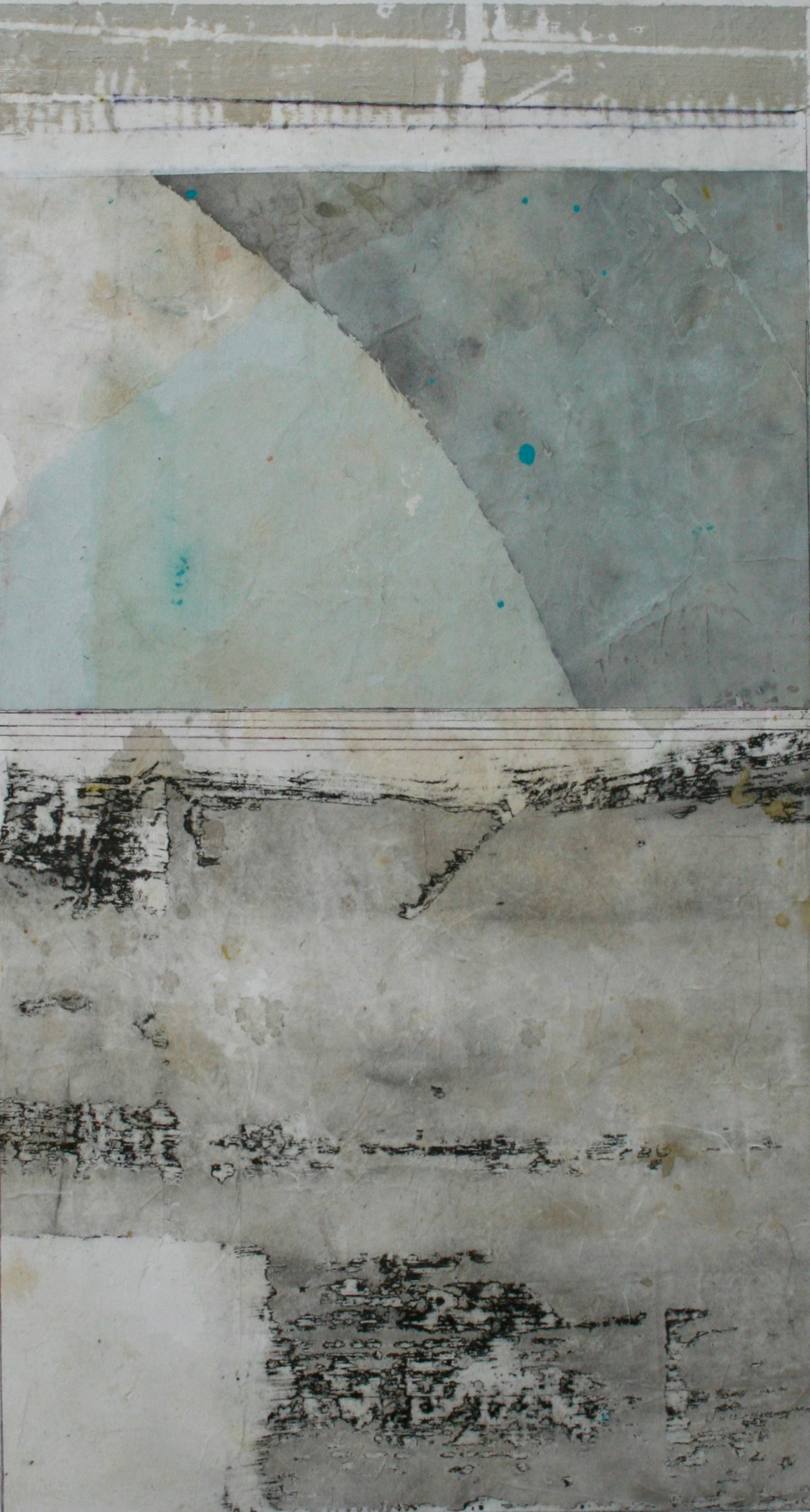 ebb tide  mixed media on paper  40 x 26  .  .