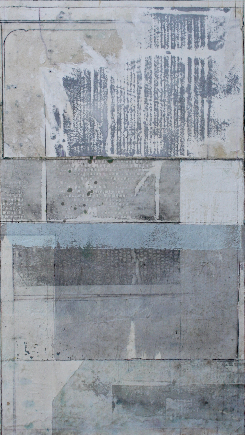 Fortitude  mixed media on paper  40 x 26  sold  .  .