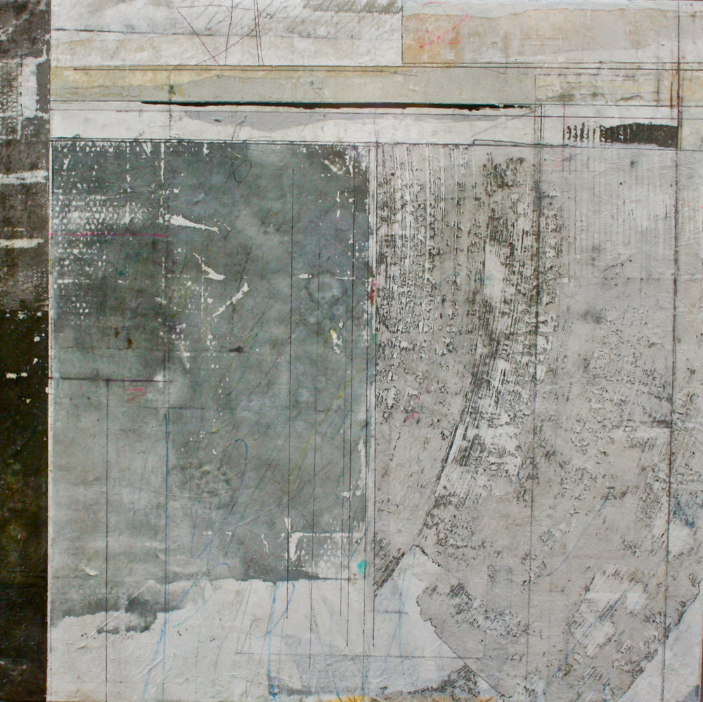penumbra  mixed media on panel  38 x 38  .  .
