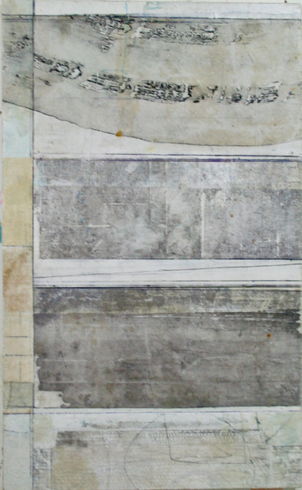 Shade  Mixed Media on Panel  44 x 27  .  .