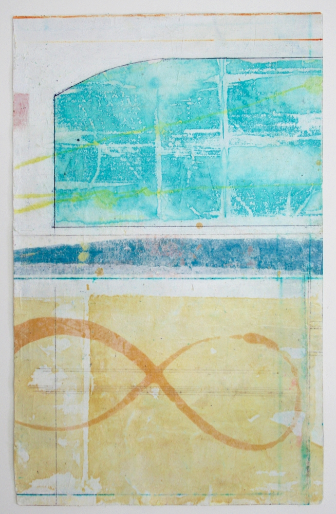 infinity  mixed media on paper  25 x 17  .  .