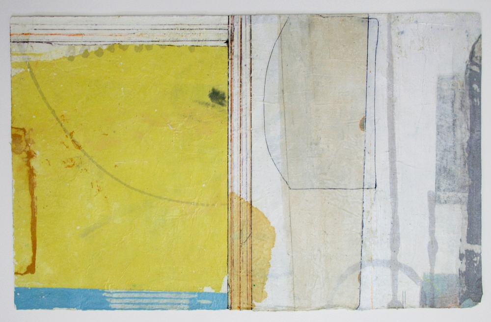 bright meets neutral  mixed media on paper  25 x 17  .  .