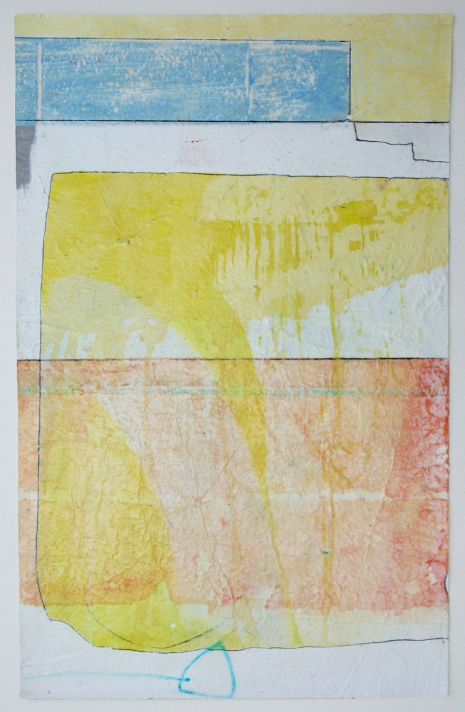 little steps  mixed media on paper  25 x 17  .  .