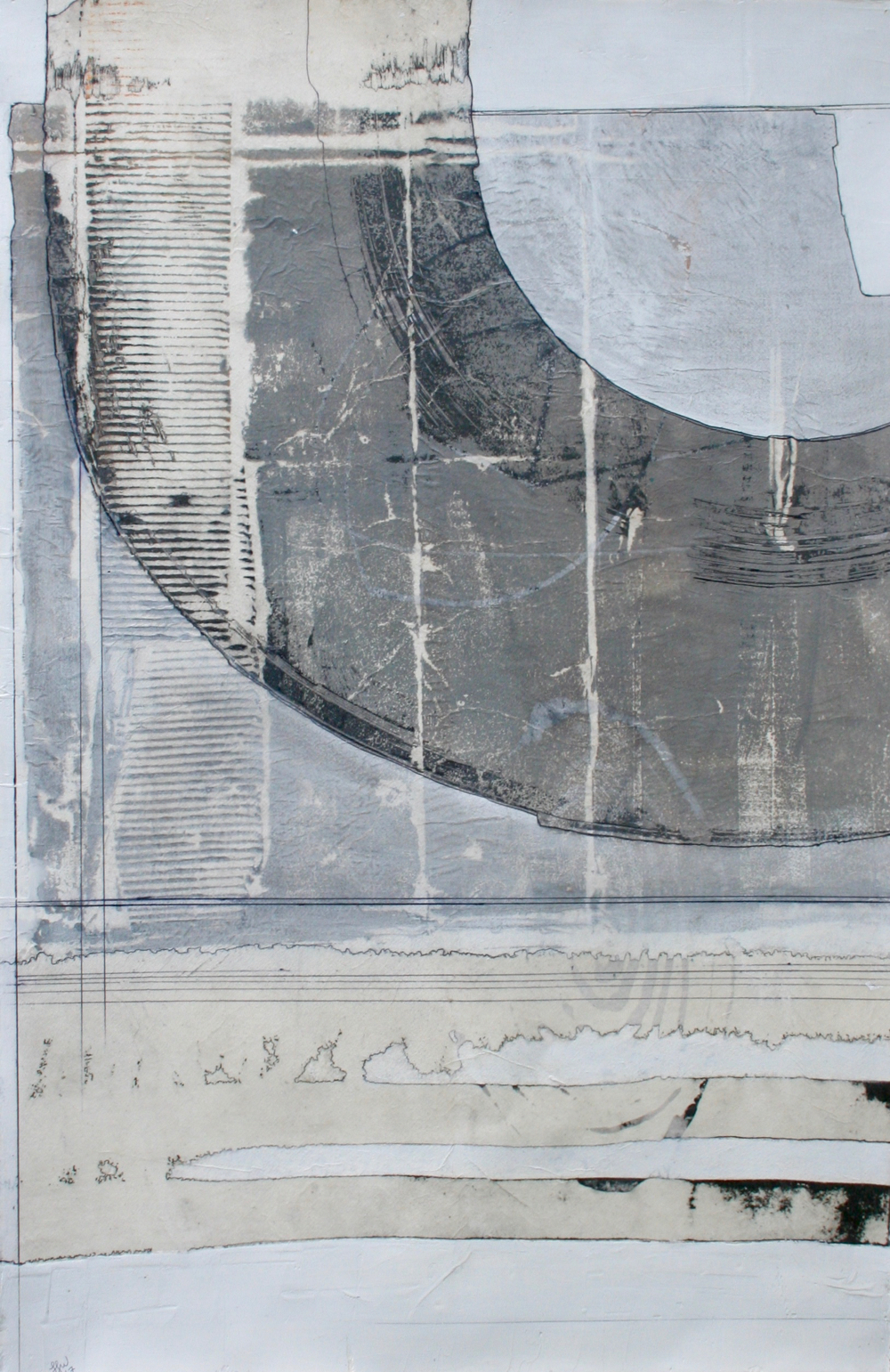 Cartography  mixed media on paper  40 x 26  .  .  .  .