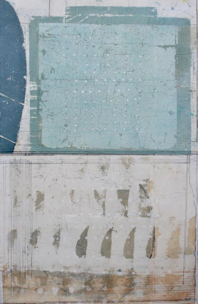 ziggurat  mixed media on paper  40 x 26  .  .
