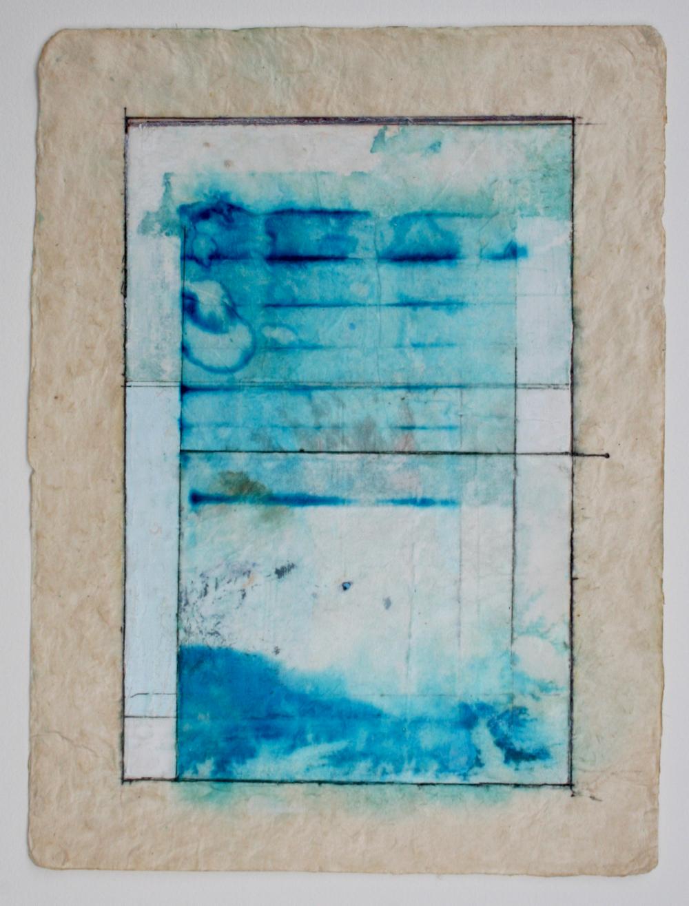 nectar  mixed media on paper  12 x 9  .  .