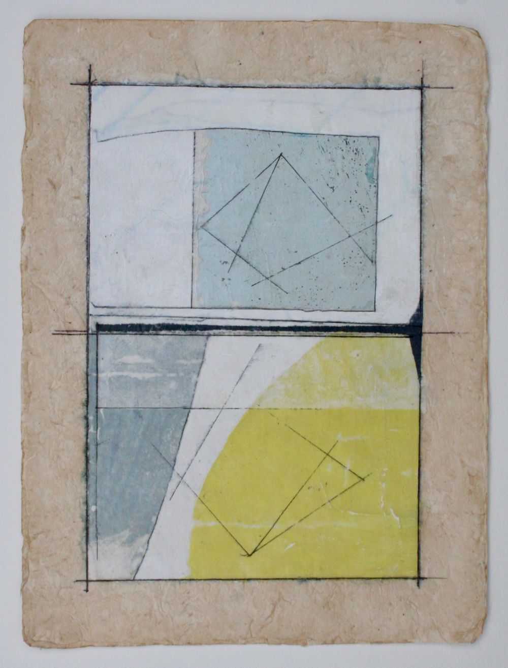 projection  mixed media on paper  12 x 9  .  .