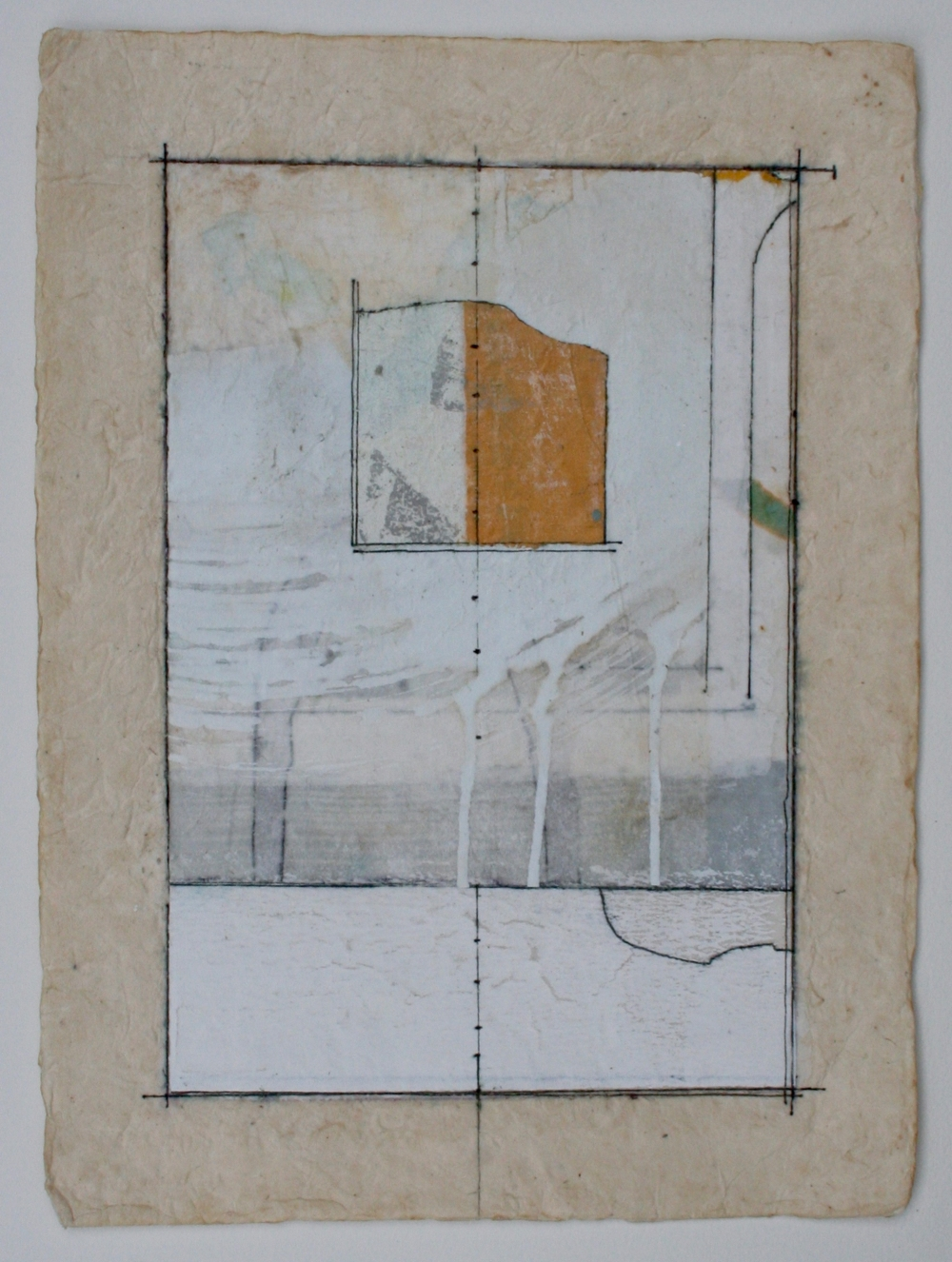 alignment  mixed media on paper  12 x 9  .  .