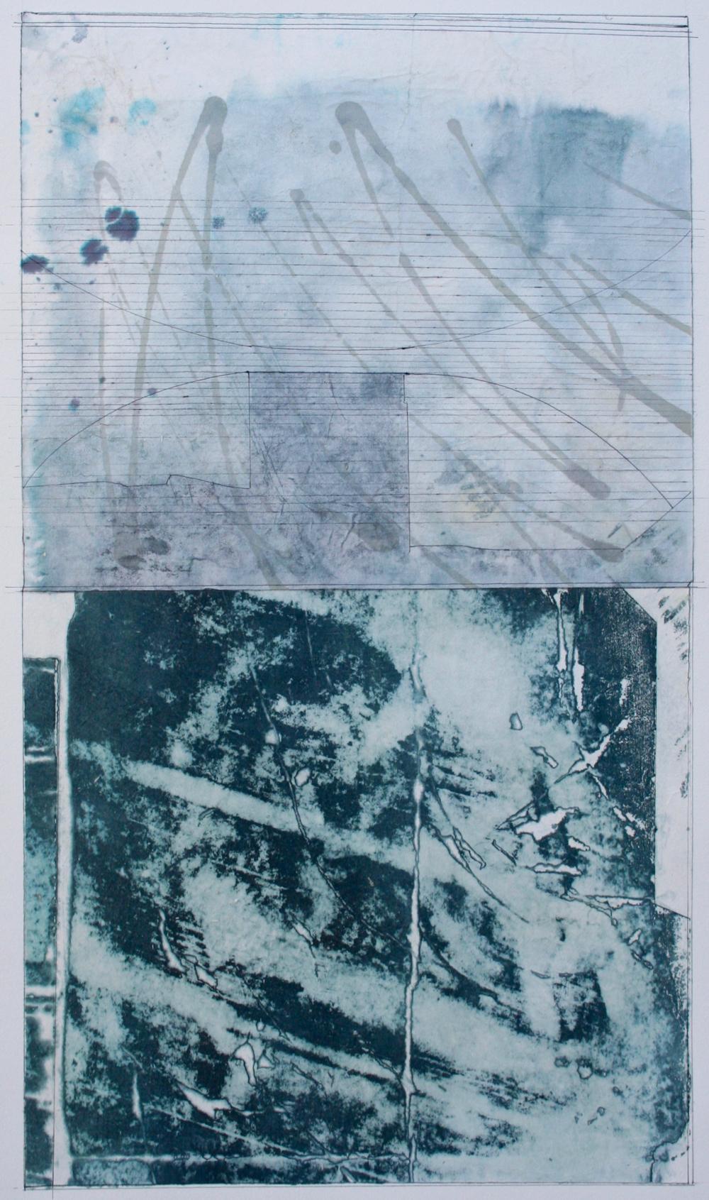 alkaline  mixed media on paper  40 x 26  .  .