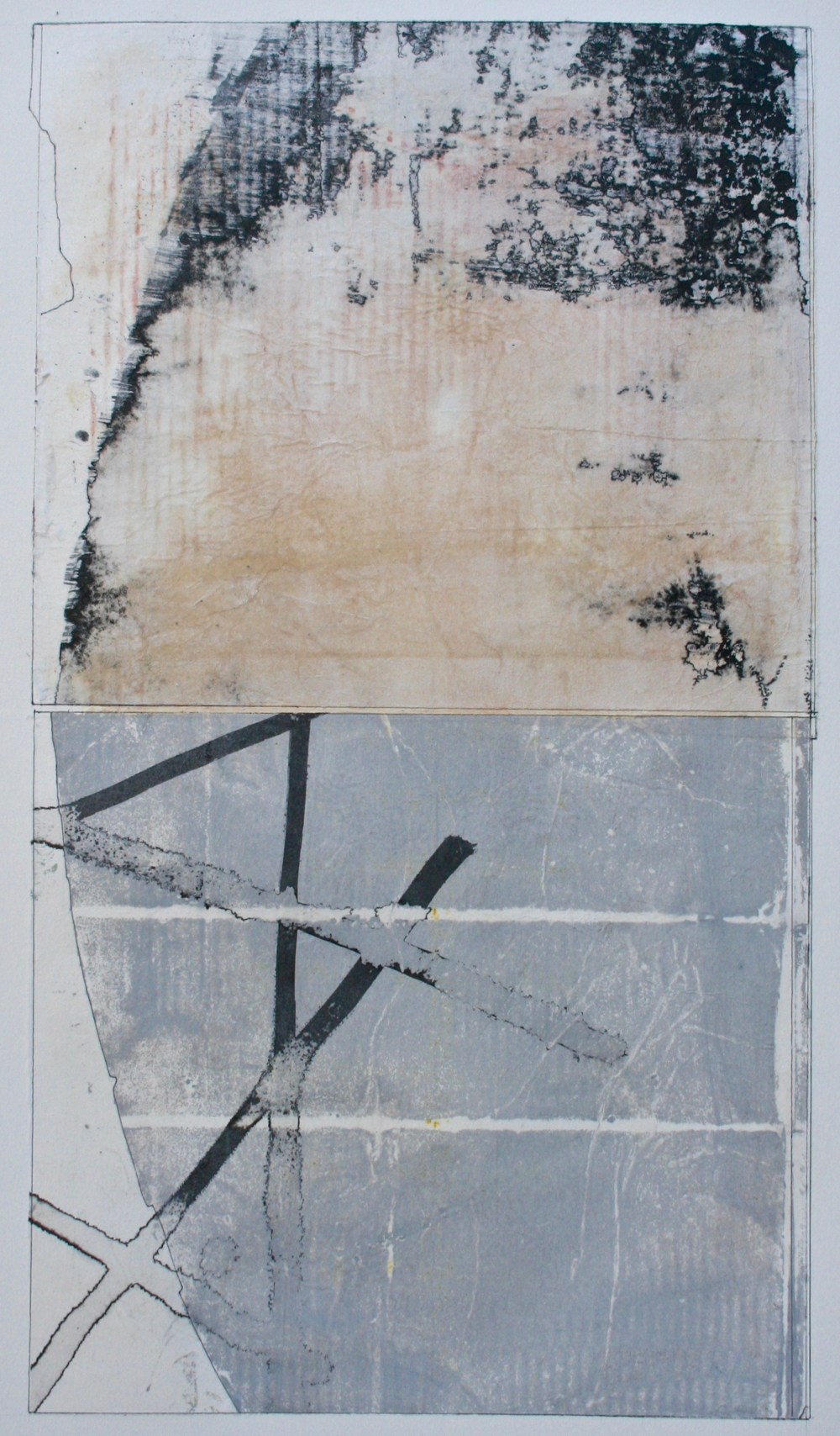 skyform  mixed media on paper  40 x 26  .  .