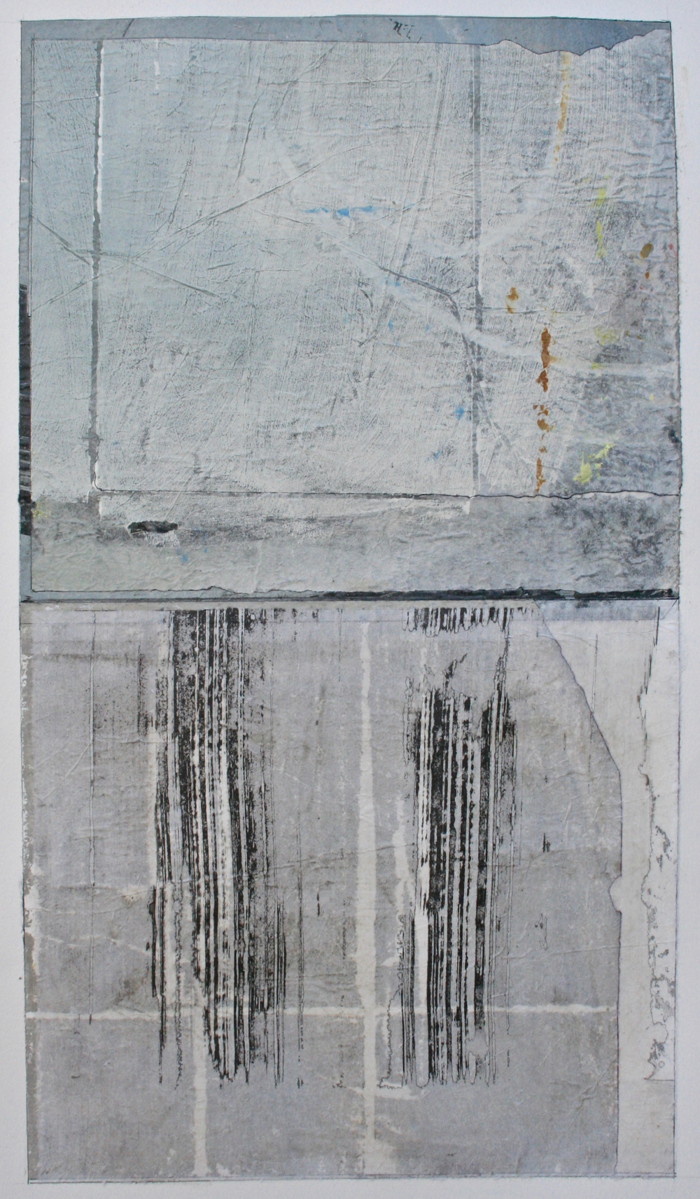 ode to papa  mixed media on paper  40 x 26  .  .