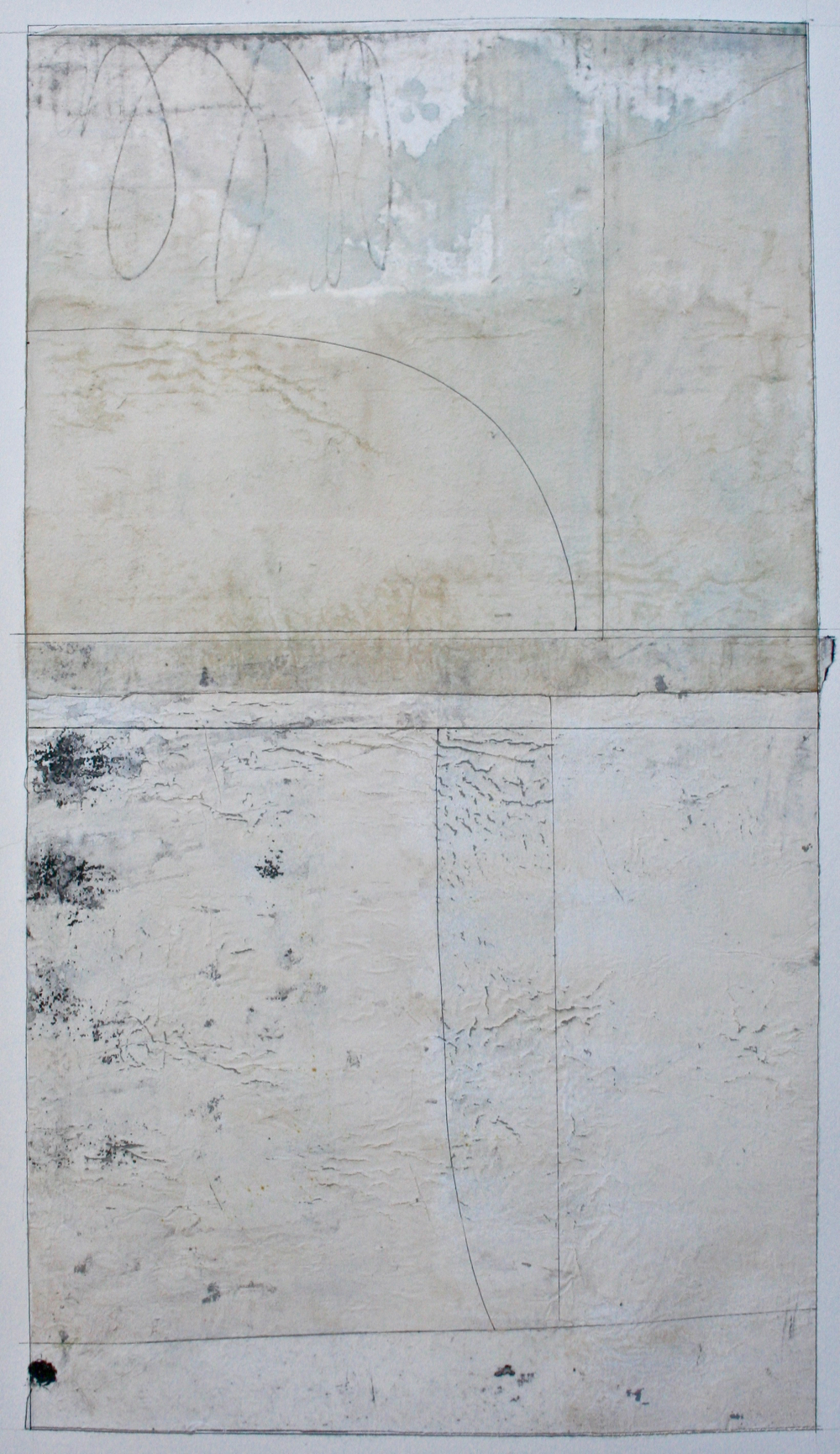 slender window  mixed media on paper  40 x 26  .  .
