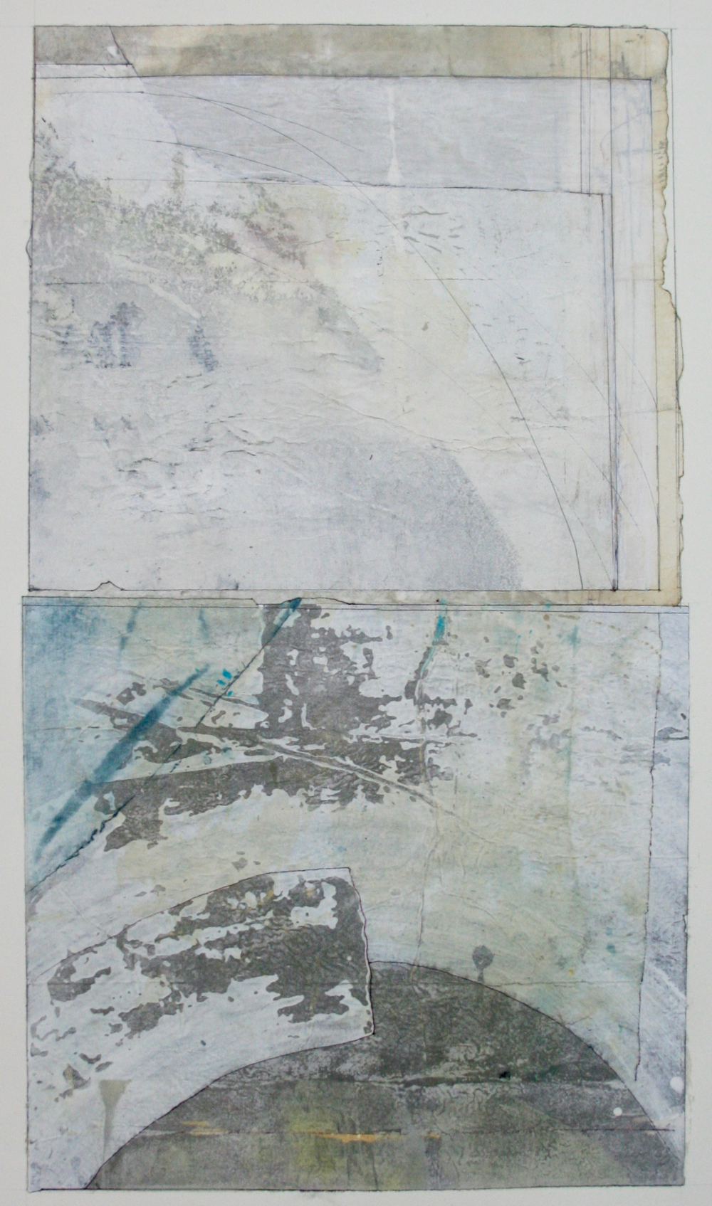 arc  mixed media on paper  40 x 26  sold  .  .