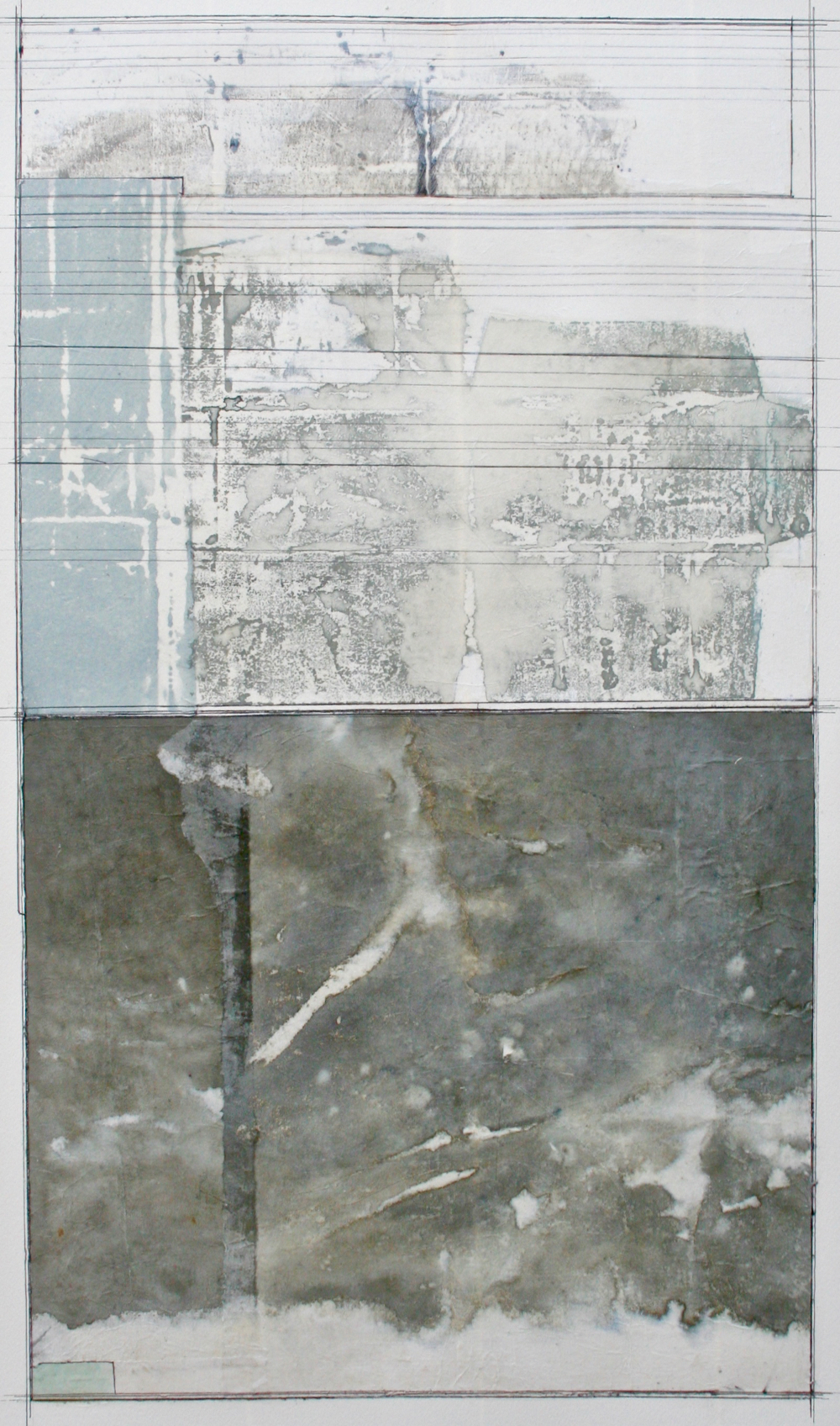 aerial view  mixed media on paper  40 x 26  .  .