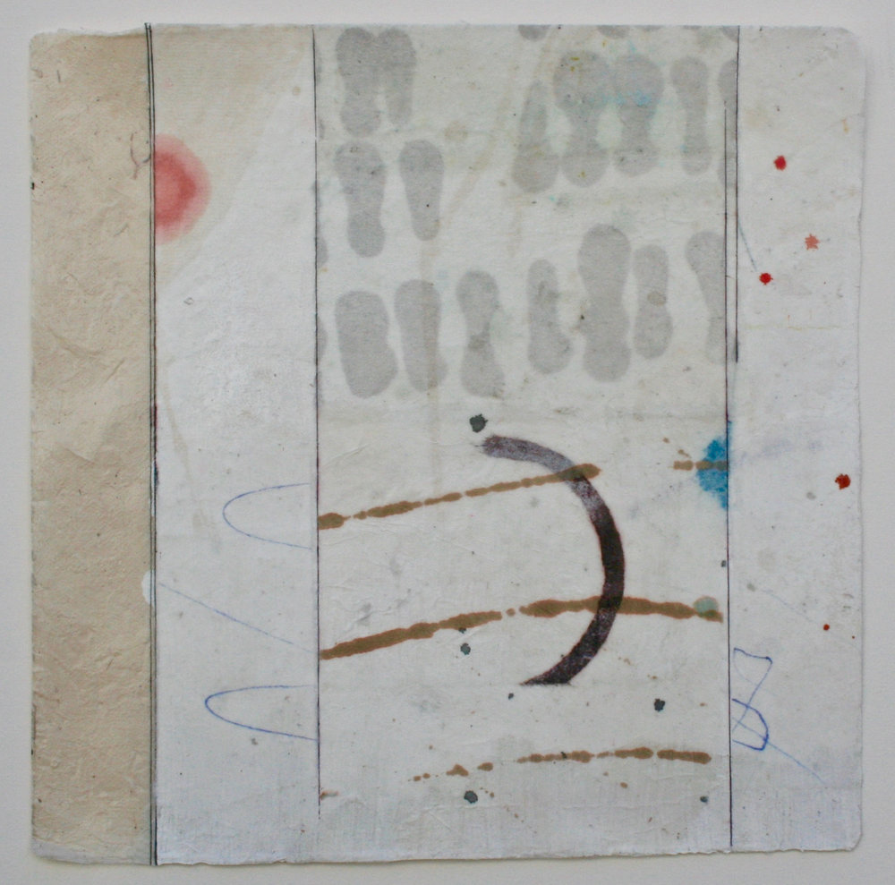 airfoil  10 x 10  mixed media on Bhutanese paper  .  .  .