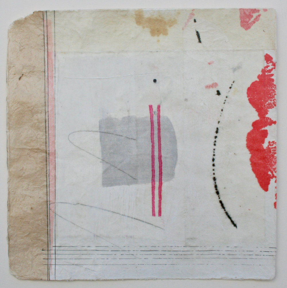 parallel  10 x 10  mixed media on Bhutanese paper  .  .  .