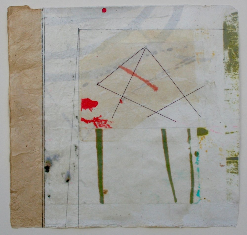 pyramid  10 x 10  mixed media on Bhutanese paper  .  .  .