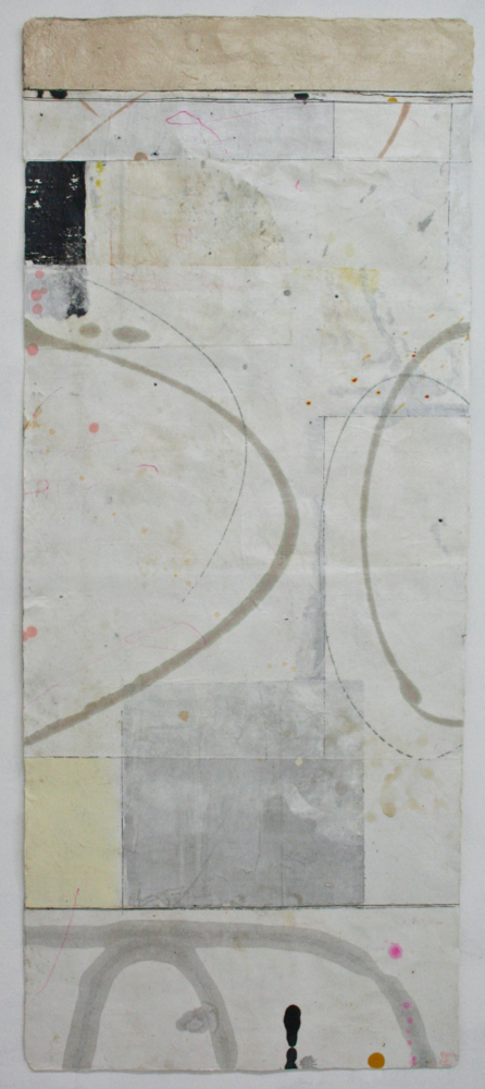 totem: play  42 x 17.5  mixed media o Tibetan paper  .  .  .