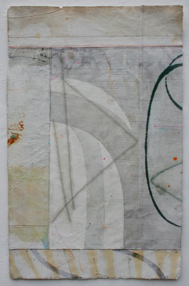 gauntlet  27.5 x 17.5  mixed media on Tibetan paper