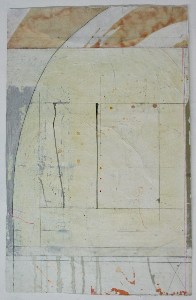 axis  27.5 x 17.5  mixed media on Tibetan paper  .  .  .