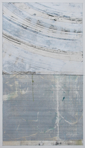 minimal  mixed media on paper  40 x 26  sold