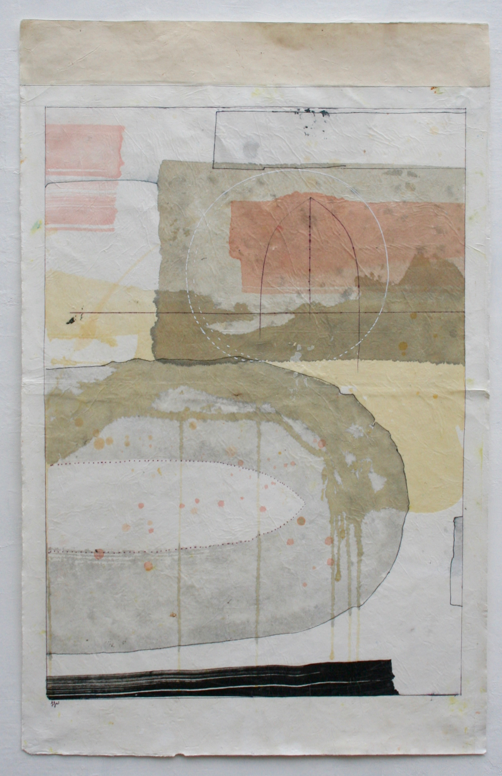 dreamtime VII, hopi  39 x 24  mixed media on Tibetan paper  .  .  .