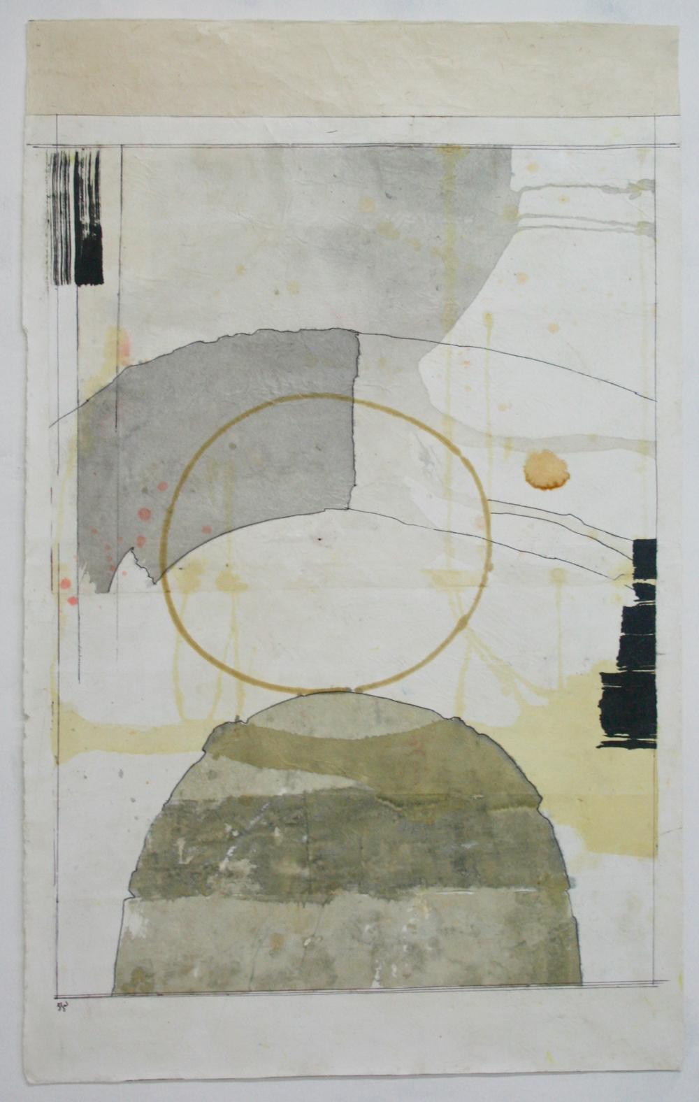 dreamtime VIII  36 x 24  mixed media on Tibetan paper  .  .  .