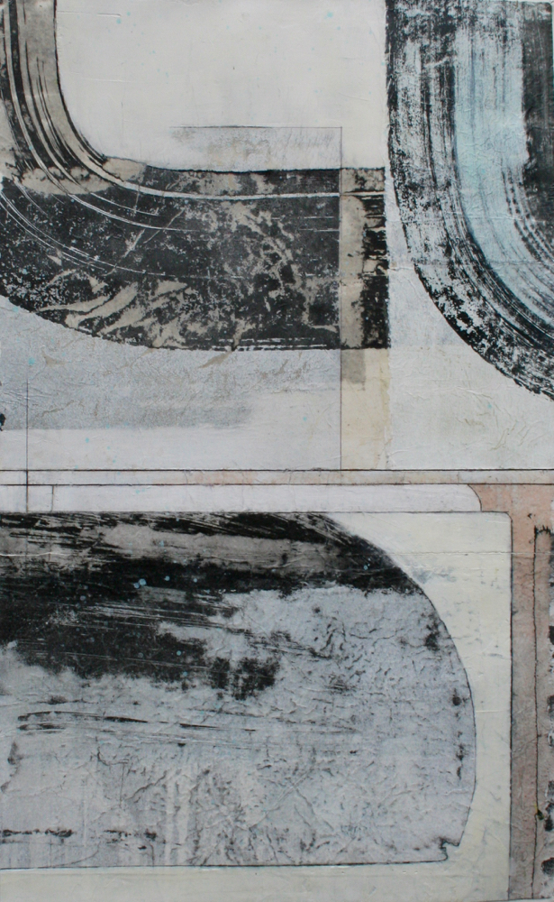 arc  mixed media on paper  40 x 26  sold  .  .  .