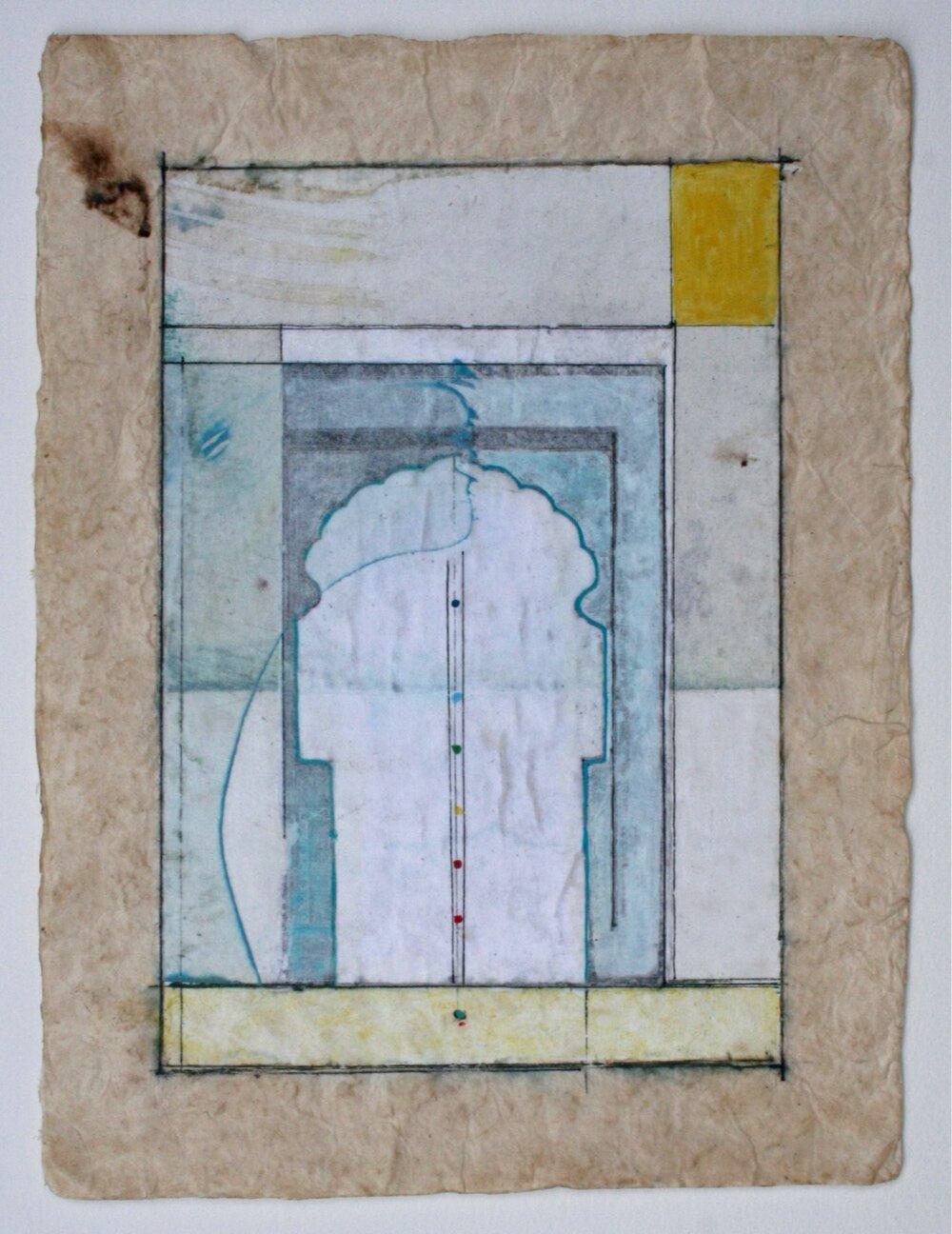 portal  mixed media on paper  12 x 9  .  .
